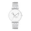 Armbanduhr für Damen aus Edelstahl