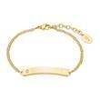 ID Armband für Damen aus Edelstahl, vergoldet