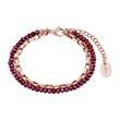 Zweireihiges Damenarmband aus Edelstahl, rosé