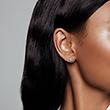 Rose Earrings In Drop Shape With Zirconia