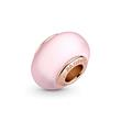 Matte Pink Murano Glass Charm