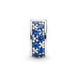 Clip Sterlingsilber blaue Zirkonia