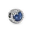 Bead Eiskristall 925er Silber blau