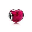 Bead rotes Herz 925er Silber