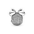 Disney Clip Charm Shimmering Minnie aus 925er Silber