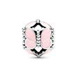 Charm Butterfly aus Sterlingsilber mit rosa Emaille