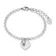 Gravierbares Herzarmband für Damen aus Edelstahl