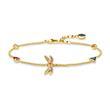 Armband Libelle aus vergoldetem Sterlingsilber