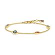 Armband Farbige Steine aus vergoldetem Sterlingsilber