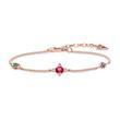 Damen Armband Kleine Glücksbringer 925er Silber, rosé
