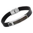 Modernes Armband aus Leder und Edelstahl