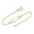 14ct Gold Bracelet: Id-Bracelet Gold 14cm