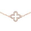 Armband Blüte aus 585er Roségold mit Diamanten