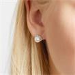 Stud Earrings 14ct White Gold Diamonds Beads