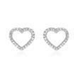 Herz Ohrstecker für Damen aus 585er Gold mit Diamanten