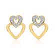 Herz-Ohrstecker aus 14K Gold mit Diamanten
