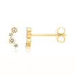 585 gold stud earrings with white topazes
