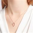 Diamant-Collier 0,083 ct gesamt 585er Rotgold