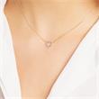 14ct Gold Anchor Chain Heart Diamonds