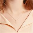 Pendant key in 18ct gold with diamonds