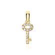 585er Goldanhänger Schlüssel mit Diamanten