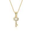 750er Goldanhänger Schlüssel mit Diamanten