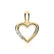 585er Gold Kette Herz mit Brillanten