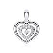 Anhänger Herz aus 18K Weißgold mit Diamanten