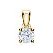 Damenkette aus 14-karätigem Gold mit Diamant