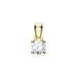 585 Gold Diamond Pendant For Ladies