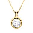 14 Carat Gold Pendant With Diamonds