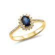 585er Gelbgold Ring mit aufwendigem Steinbesatz