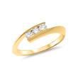14 Karat Gelbgold Ring mit drei Diamanten