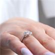Engagement Ring 18ct White Gold With Diamonds