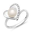 Ring 585er Weißgold 9 Diamanten 0,05 ct.