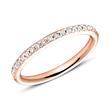 750er Roségold Eternity Ring 2Diamant
