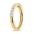 585er Gelbgold Eternity Ring 13 Diamanten