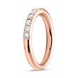 14K Roségold Eternity Ring 13 Diamanten