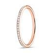 Ring Eternity 750er Roségold 49 Diamanten