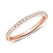585er Roségold Ring Eternity 43 Diamanten