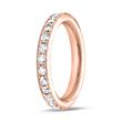 18K Roségold Eternity Ring 27 Diamanten