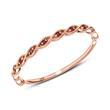 585er Roségold Ring mit Rubinen