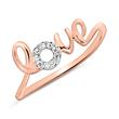 Ring Love aus 14K Roségold mit Diamanten