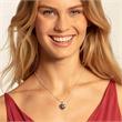 Herzmedaillon Kette aus Sterlingsilber mit Diamanten
