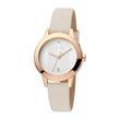 Armbanduhr Tact für Damen mit beigen Lederband