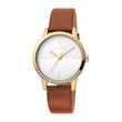 Quartz watch Yen for ladies with brown leather strap