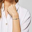 Armband Mini aus türkisem Textil und 925er Silber