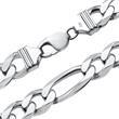925 Silberkette: Figarokette Silber 13mm