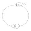 Armband Kreise für Damen aus 375er Weißgold