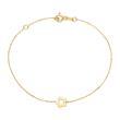 Armband Blume für Damen aus 375er Gold